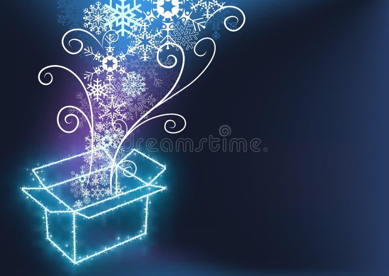 Kerstmis met de Doos van de Gift stock illustratie