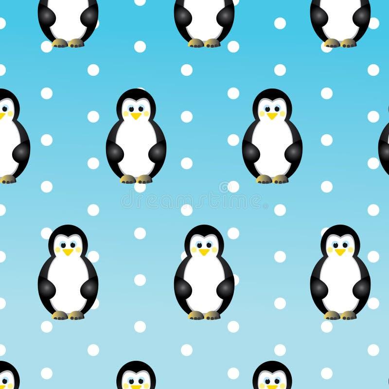Kerstmis met pinguïnen stock foto's