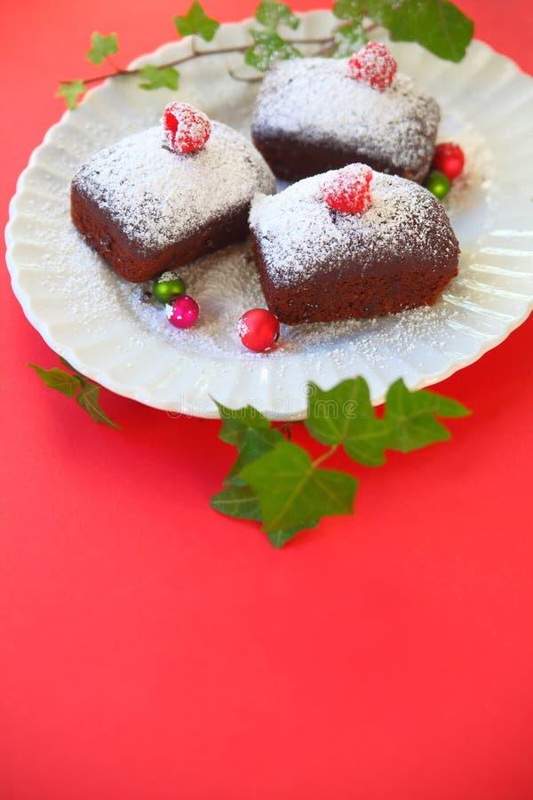 Kerstmis minicakes met exemplaarruimte royalty-vrije stock afbeelding