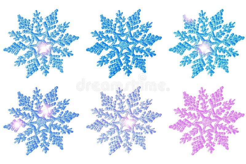 Kerstmis mooie stuk speelgoed sneeuwvlok stock foto