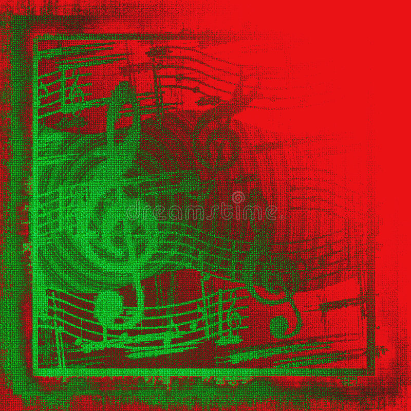 Kerstmis Muzikale Grunge stock illustratie