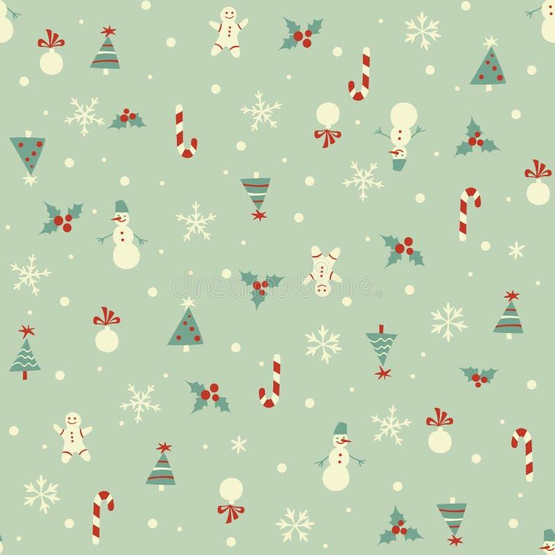 Kerstmis naadloos patroon stock illustratie