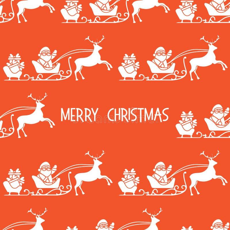 Kerstmis 2019 naadloos patroon Santa Claus, giften vector illustratie