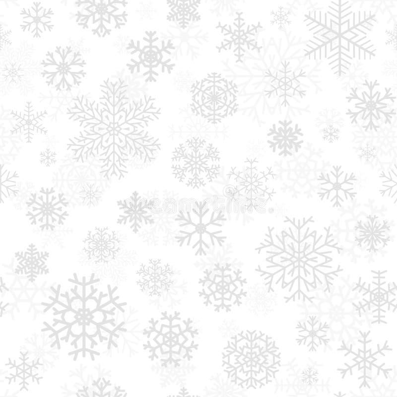 Kerstmis naadloos patroon van sneeuwvlokken vector illustratie