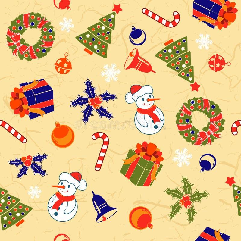 Kerstmis Naadloze Achtergrond vector illustratie