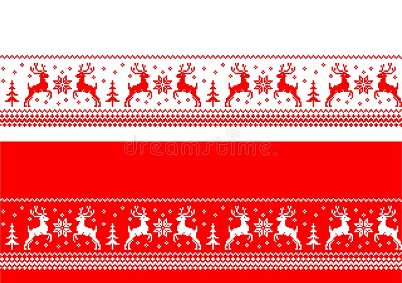 Kerstmis naadloze banners royalty-vrije illustratie