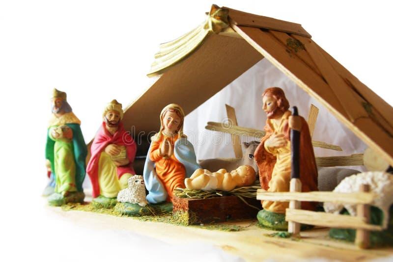 Kerstmis - nativityscène. royalty-vrije stock afbeeldingen