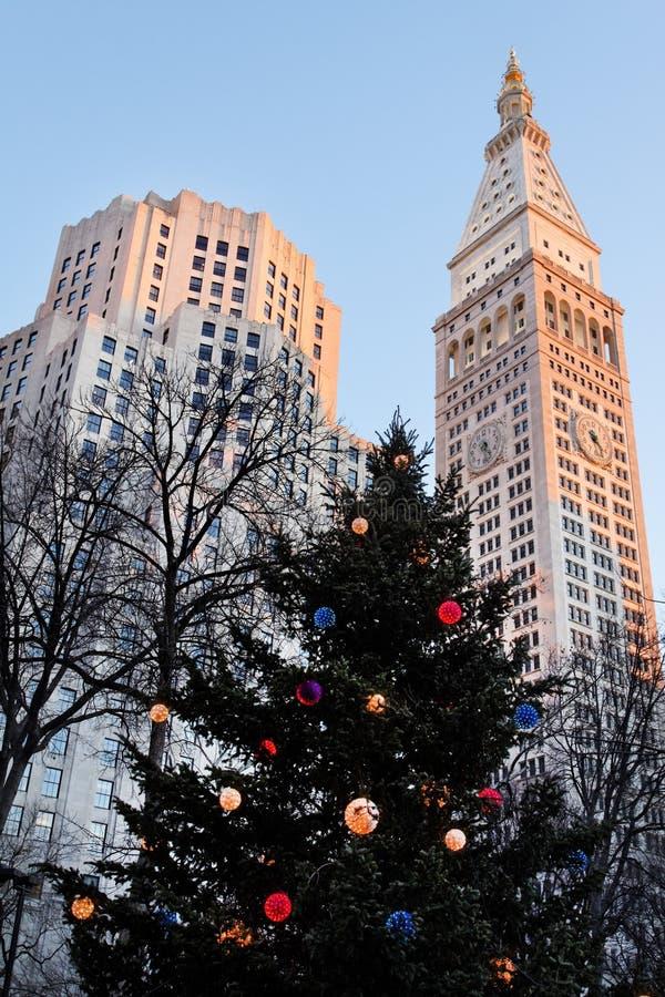 Kerstmis in New York stock foto