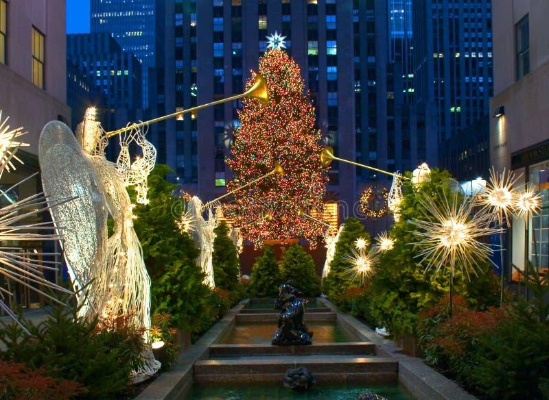 Kerstmis In New York Redactionele Afbeelding