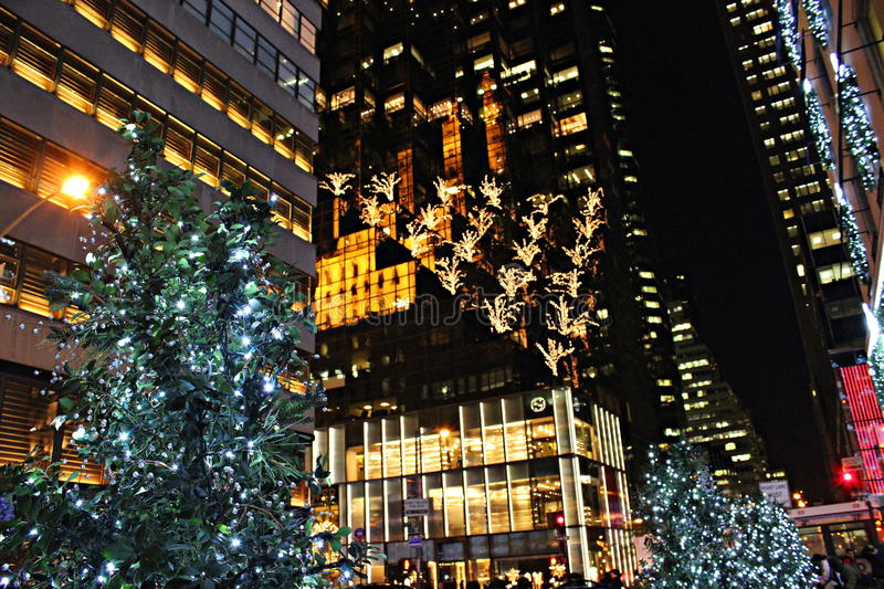 Kerstmis in New York royalty-vrije stock foto
