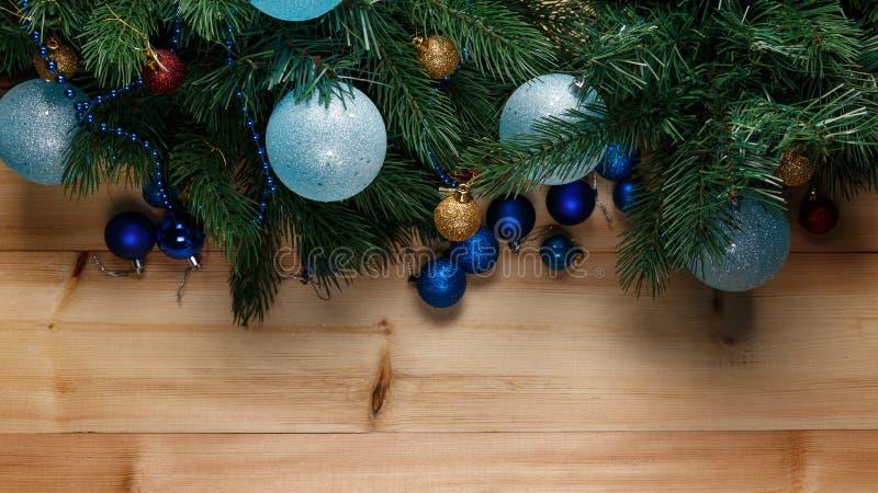 Kerstmis of Nieuwjaardecoratieachtergrond royalty-vrije stock fotografie