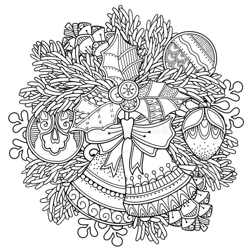 Kerstmis, Nieuwjaarsamenstelling royalty-vrije illustratie