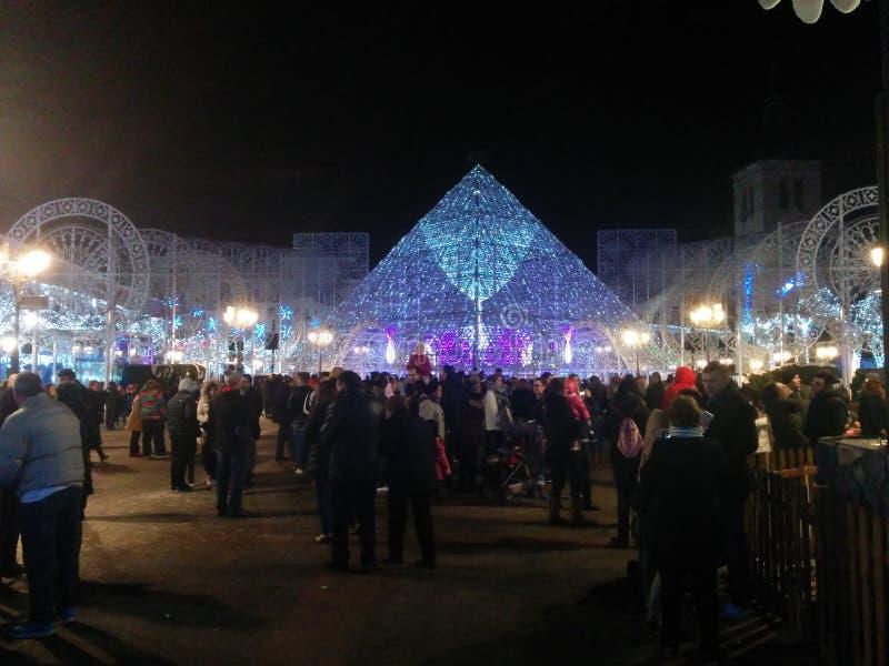 Kerstmis op de Stad van Torrejà ³ n stock afbeeldingen