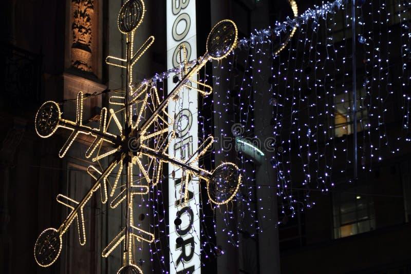 Kerstmis op de Straat van Oxford royalty-vrije stock afbeeldingen
