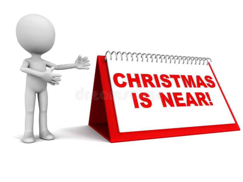 Kerstmis is dichtbij stock illustratie