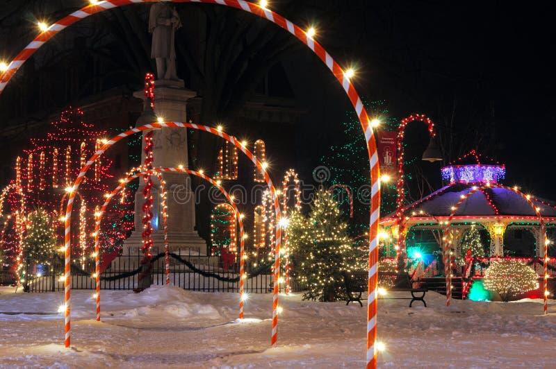 Kerstmis op het vierkant royalty-vrije stock fotografie