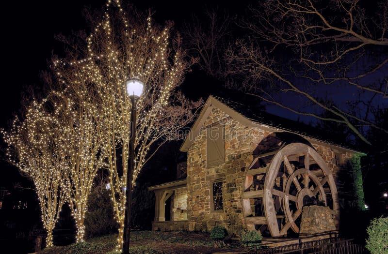 Kerstmis in Oud Evans Farm, McLean, Virginia royalty-vrije stock afbeelding