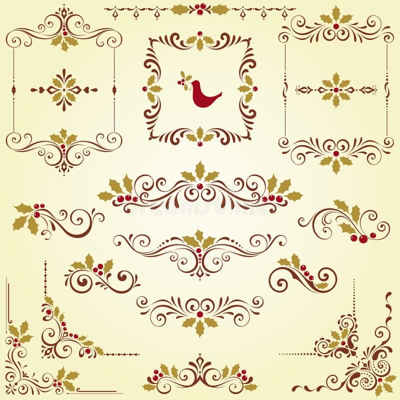 Kerstmis Overladen Motieven royalty-vrije illustratie