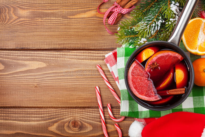 Kerstmis overwogen wijn stock afbeeldingen