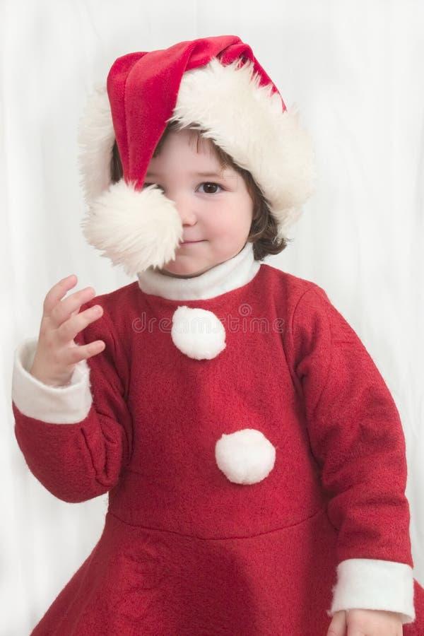 Kerstmis Peekaboo 3 royalty-vrije stock fotografie