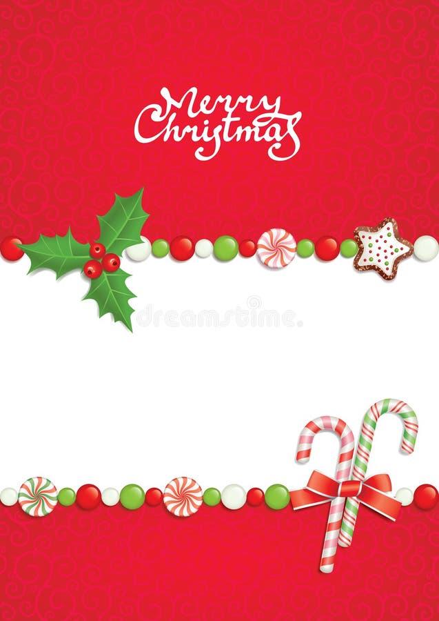 Kerstmis post royalty-vrije illustratie