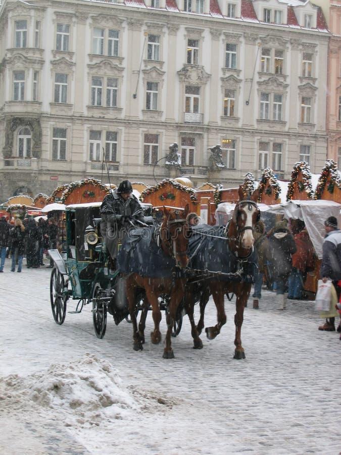 Kerstmis in Praag royalty-vrije stock foto's