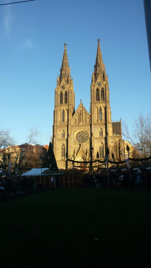 Kerstmis in Praag stock fotografie