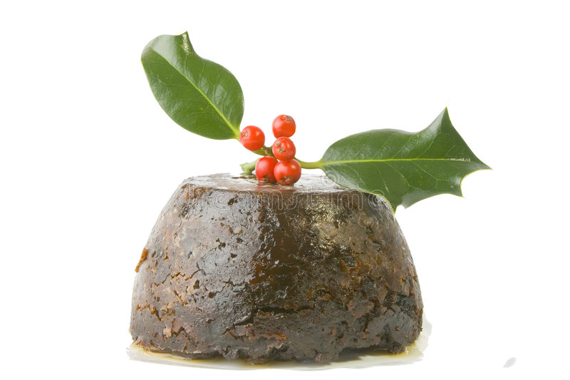 Kerstmis pudding2 royalty-vrije stock afbeelding