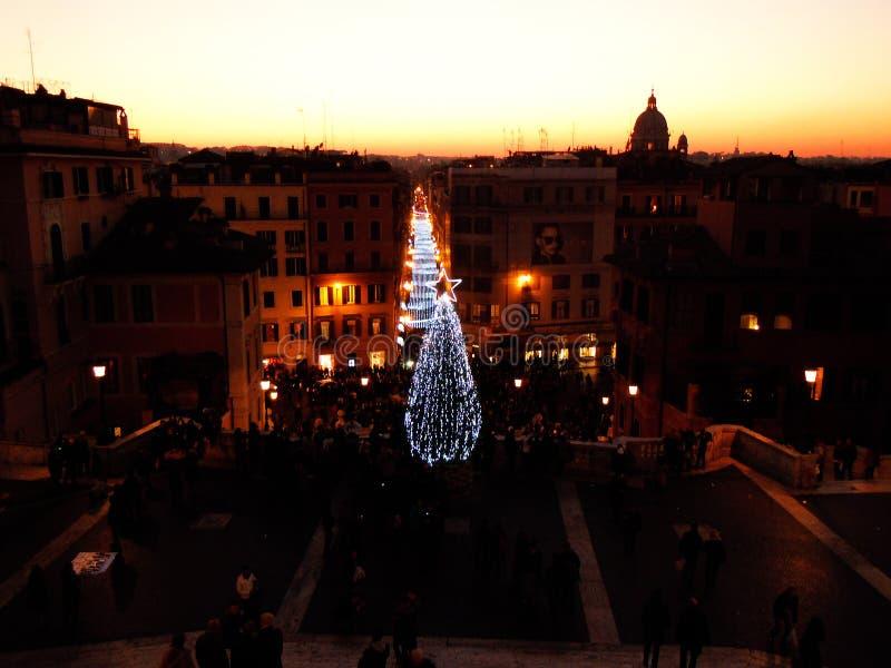 Kerstmis in Rome stock afbeelding
