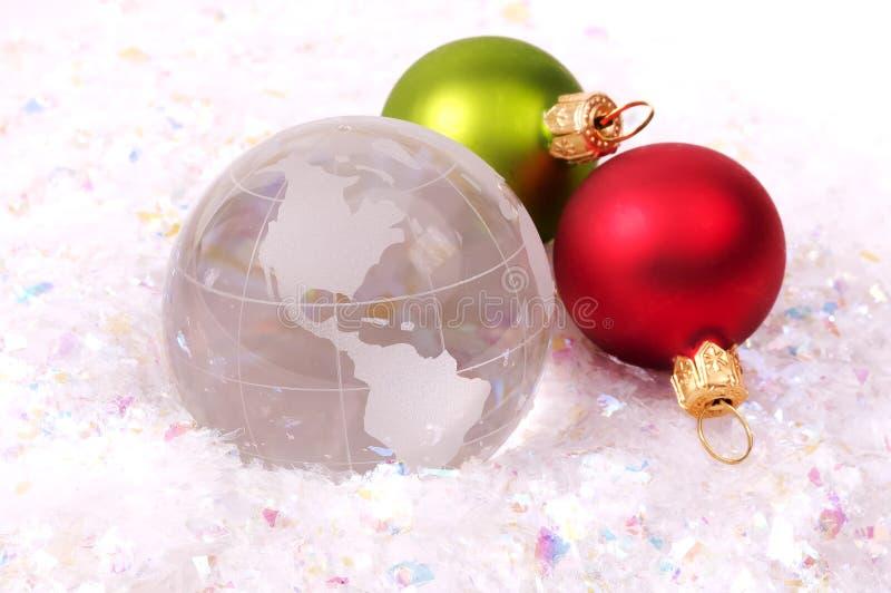 Kerstmis rond de Wereld stock foto