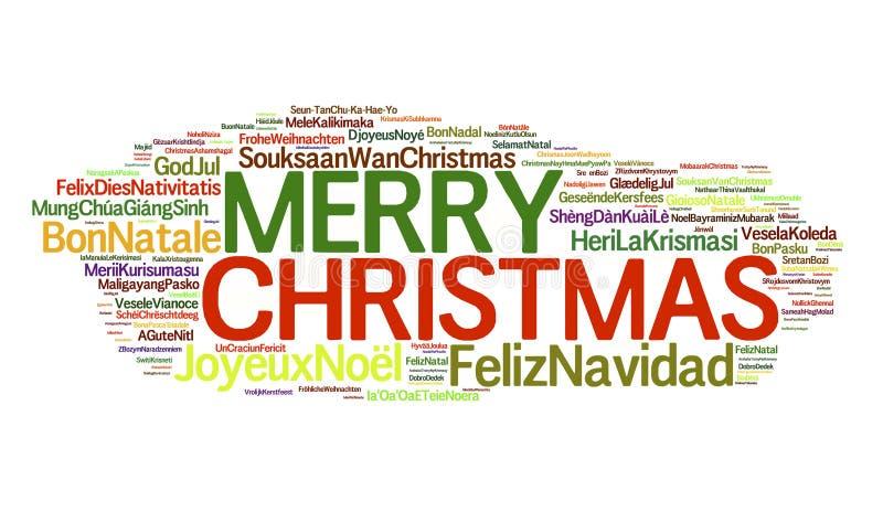 Kerstmis rond de Wereld vector illustratie