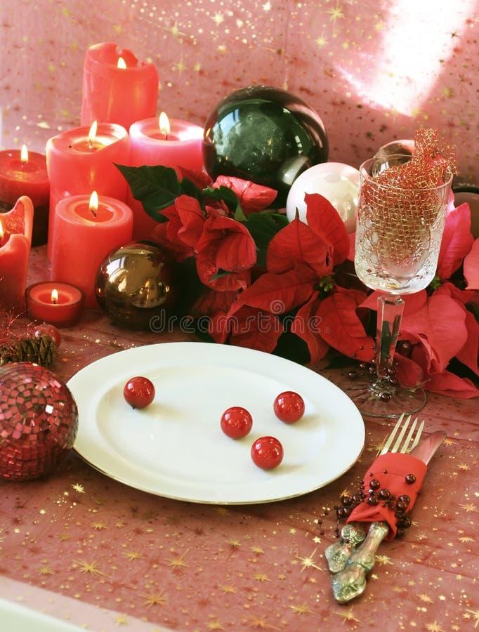 Kerstmis in rood royalty-vrije stock fotografie