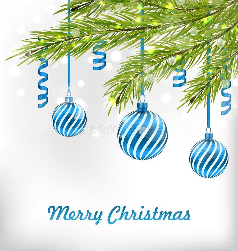Kerstmis schittert Kaart met Spartakken vector illustratie