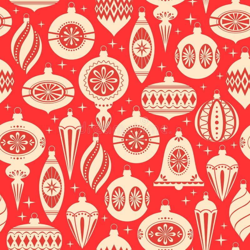 Kerstmis siert patroon stock illustratie