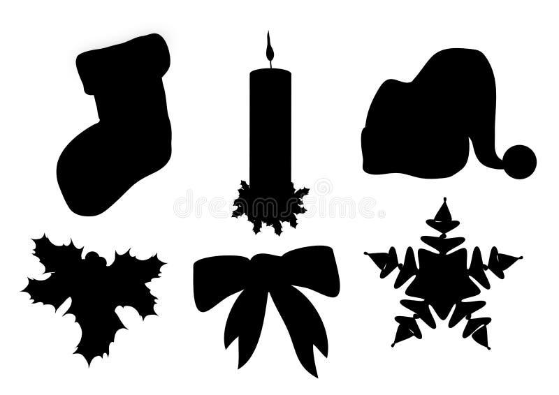 Kerstmis silhouetteert 1 royalty-vrije illustratie