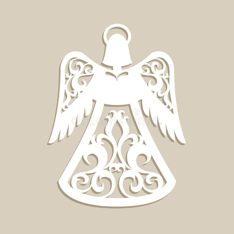 Kerstmis sneed openwork engel stock afbeelding