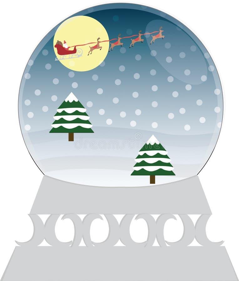 Kerstmis Snowglobe vector illustratie