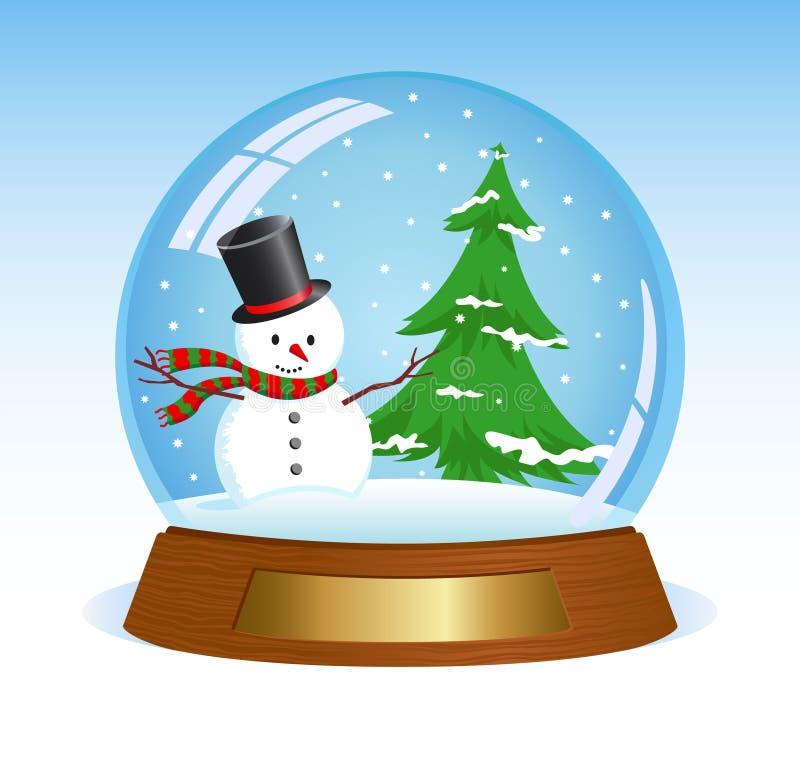 Kerstmis snowglobe stock illustratie