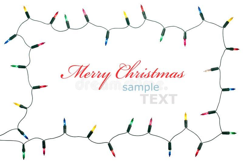 Kerstmis steekt frame aan