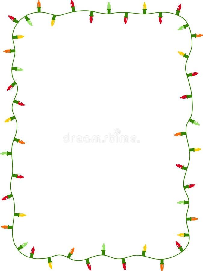 Kerstmis steekt frame aan stock illustratie