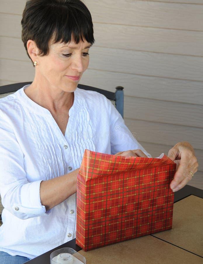 Kerstmis stelt het verpakken voor royalty-vrije stock foto's