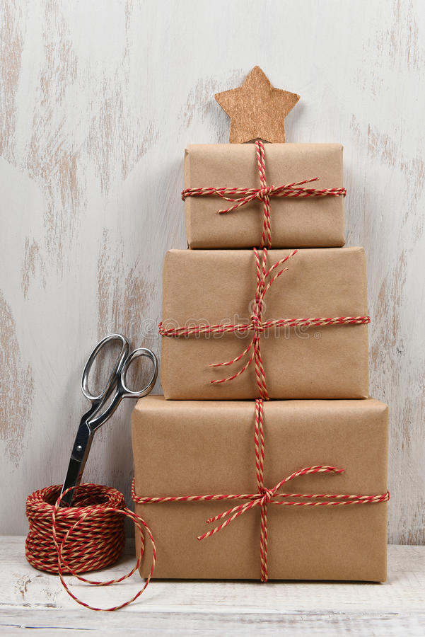 Kerstmis stelt Stapel voor stock afbeelding