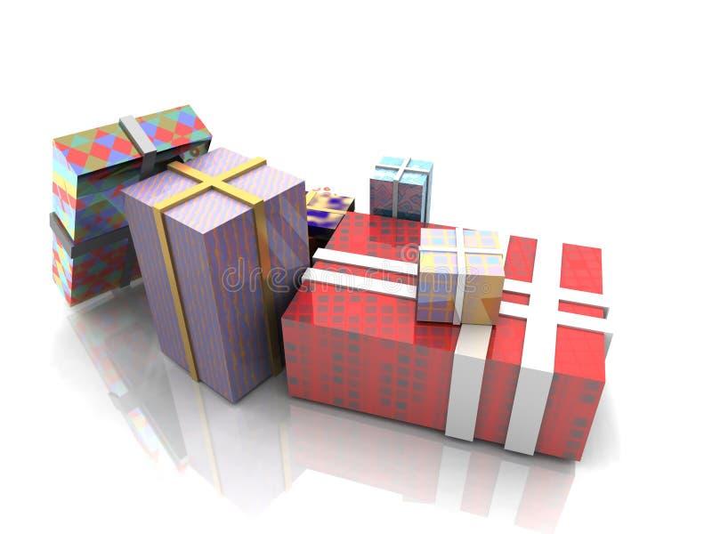 Kerstmis stelt voor stock illustratie