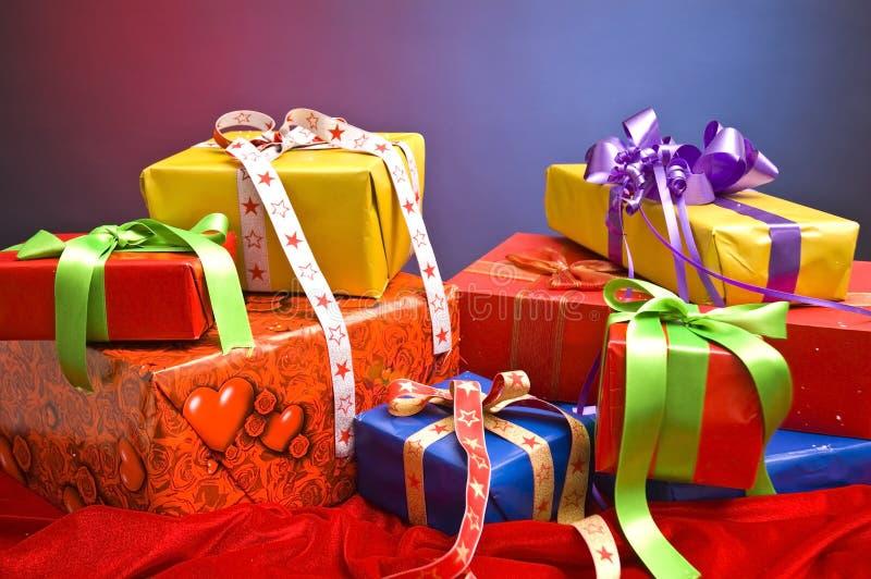 Kerstmis stelt voor stock afbeeldingen