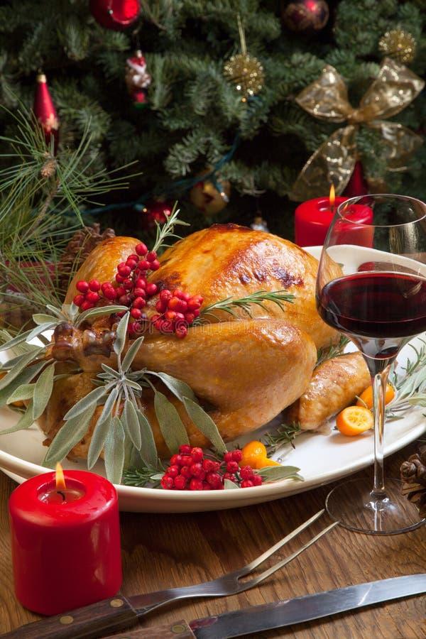 Kerstmis Turkije trof voor Diner voorbereidingen stock afbeelding