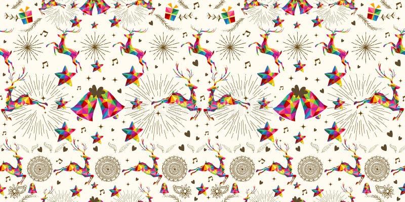 Kerstmis uitstekend retro naadloos patroon royalty-vrije illustratie