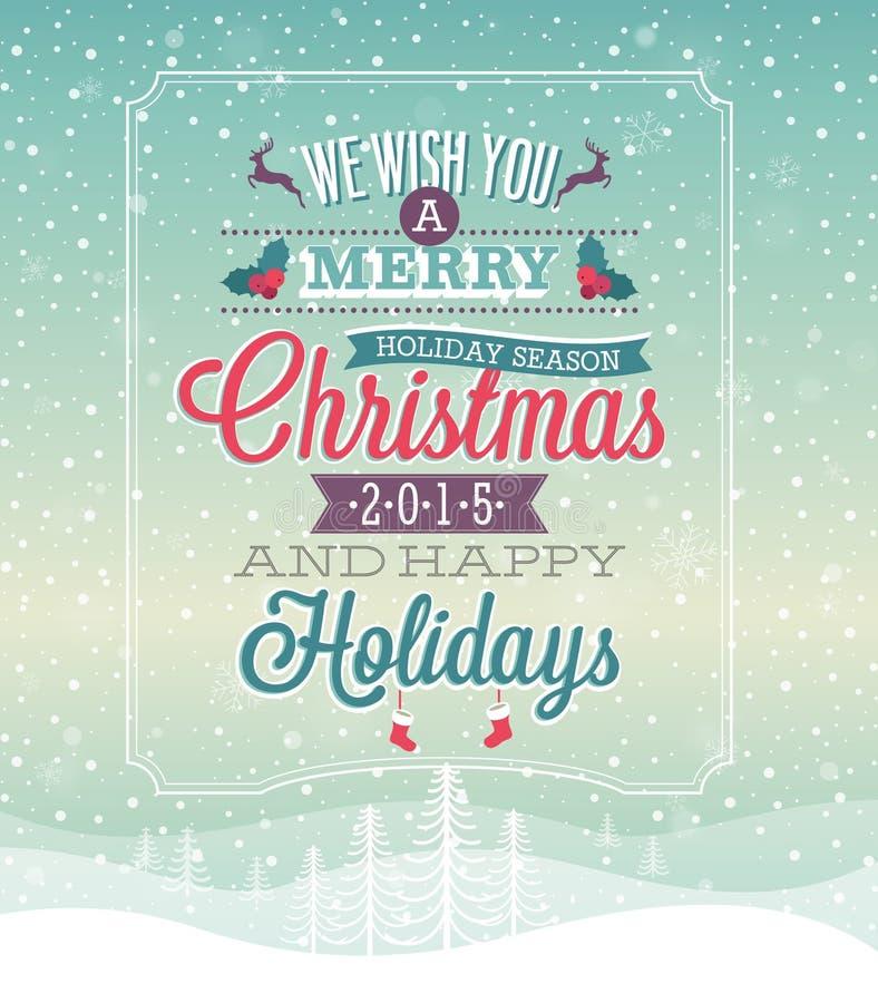 Kerstmis uitstekende Affiche