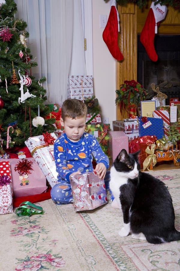 Kerstmis van Childs stock foto's
