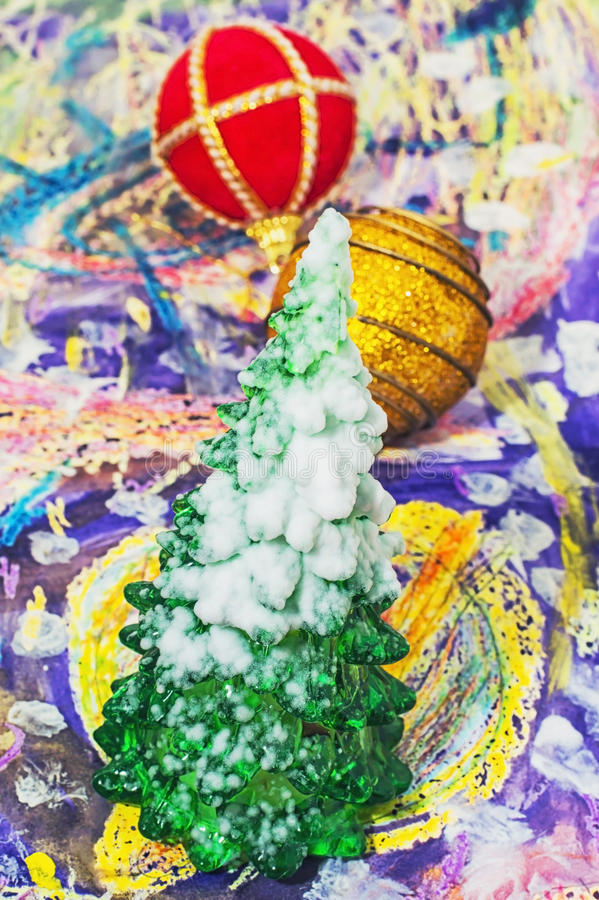 Kerstmis van de de wintervakantie stock foto