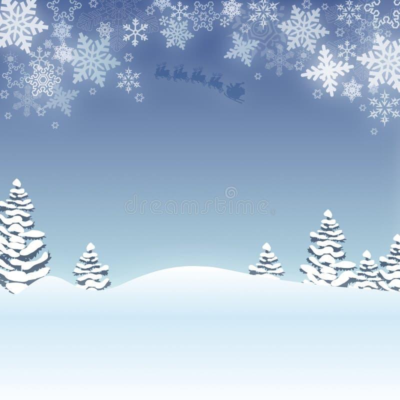 Kerstmis van de sneeuwvlok vector illustratie
